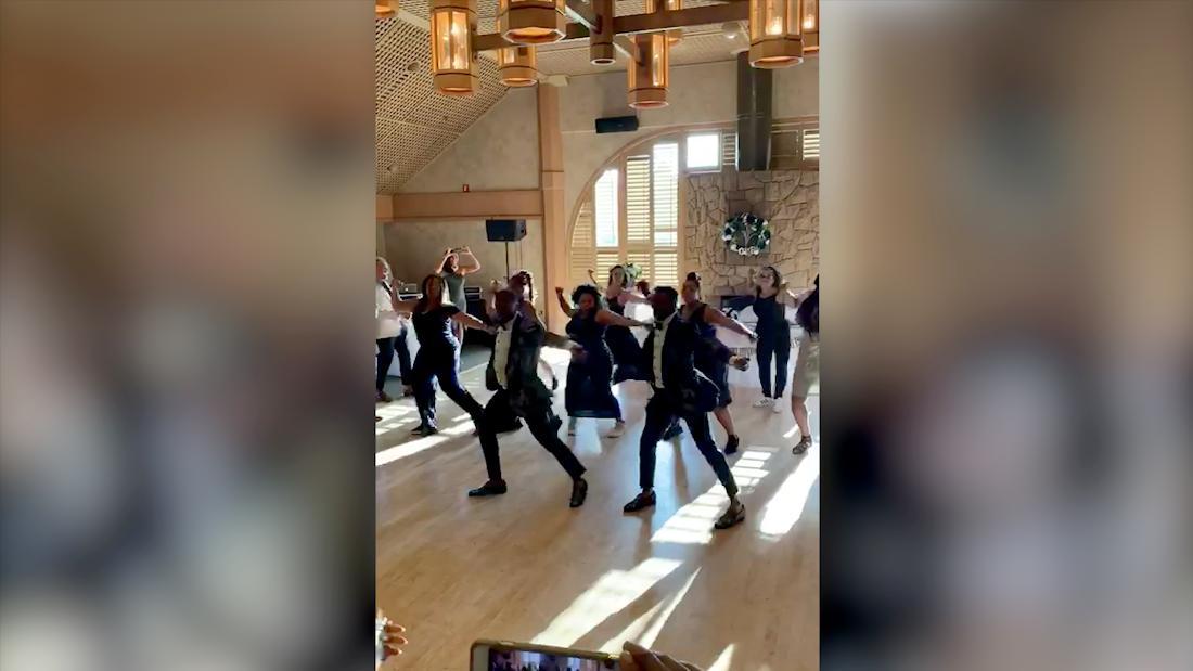 Watch an incredible flash dance form at a wedding party cnn.it/2AkDKtl