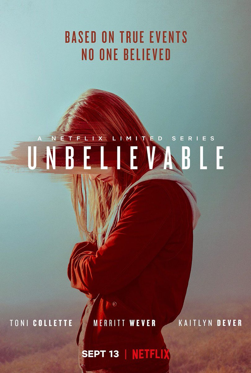 #NowWatching Unbelievable - Netflix limited series  I love Toni Collette and Merritt Wever so it's must watch for me. <br>http://pic.twitter.com/CMVv9EzTkw