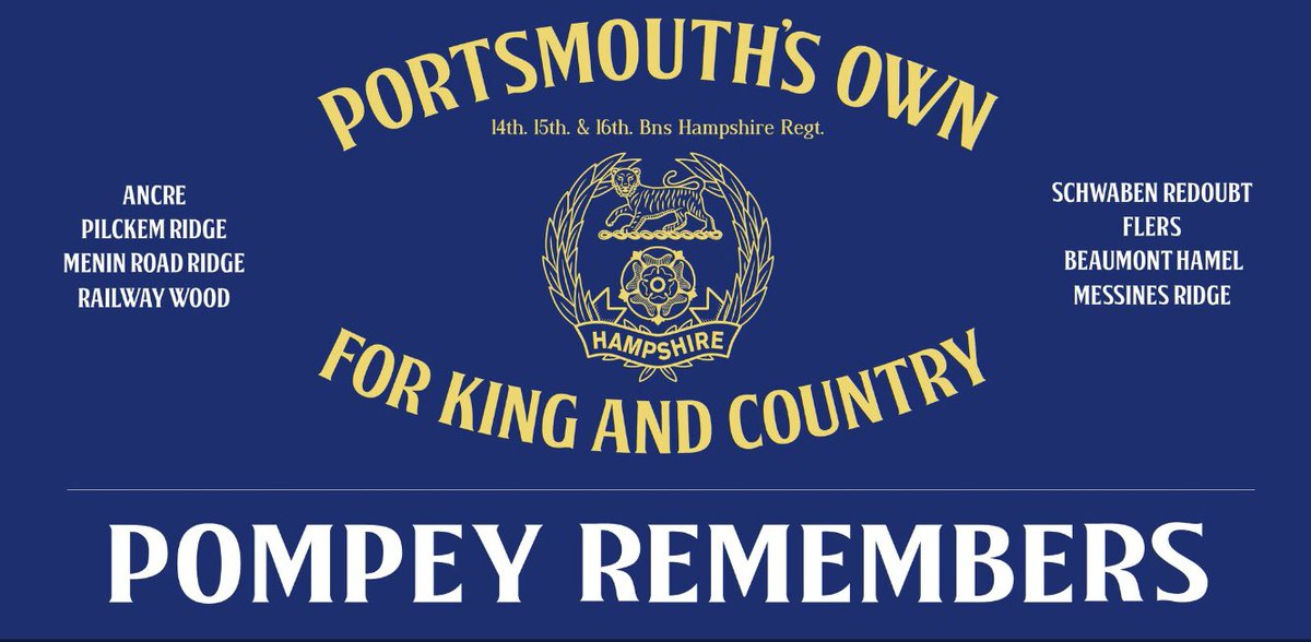 Remembering today the 2nd Portsmouth's Own who went into battle at Flers 103 years ago today amongst the casualties was 15 year old George Jakes the youngest from our city killed in action during WW1 He has no known grave & is remembered on the Thiepval memorial #PompeyRemembers<br>http://pic.twitter.com/vTbtt6ExJW