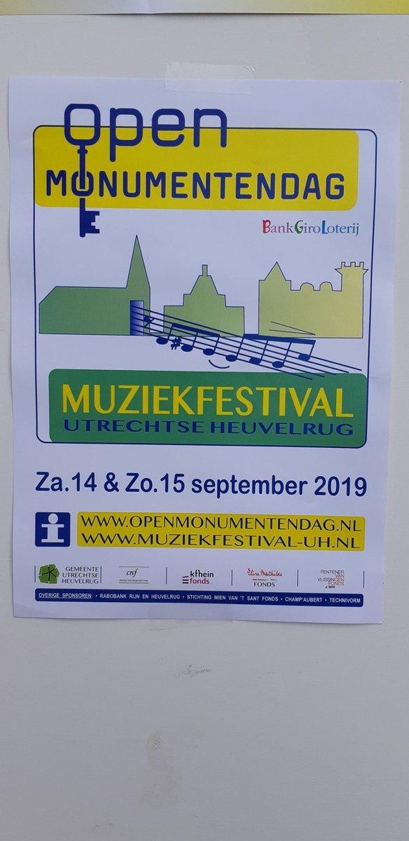 Goedemorgen dag 2  #openmonumentendag #muziekfestival 11:00 uur start ...