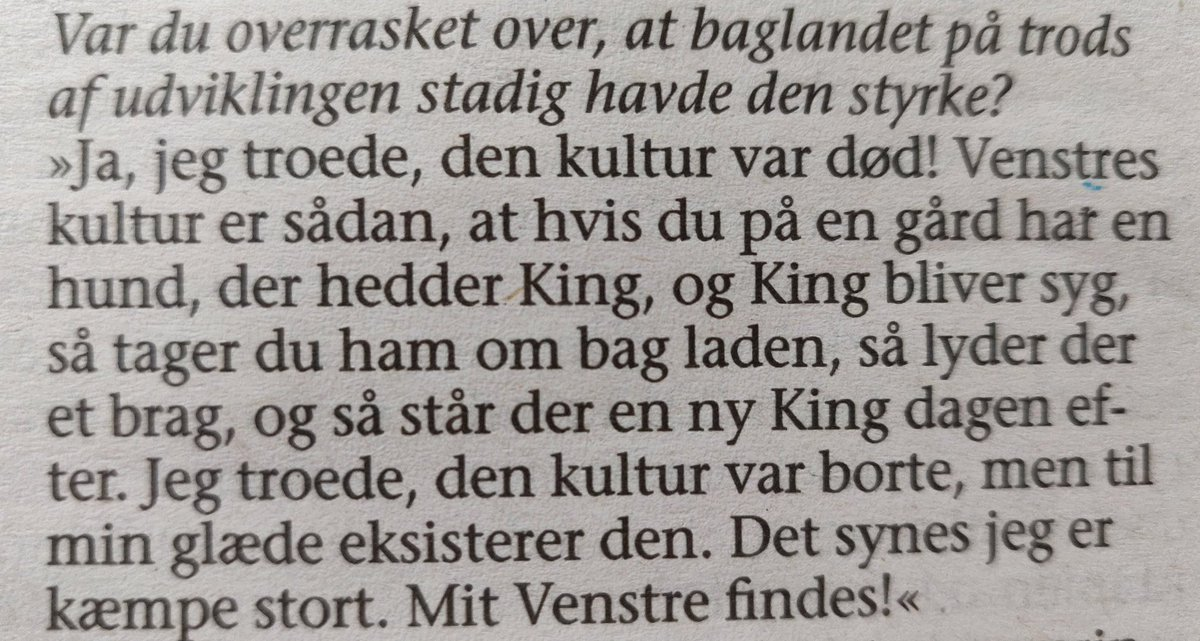 Min farmors gamle hund hed King. 🥺🥺 #dkpol