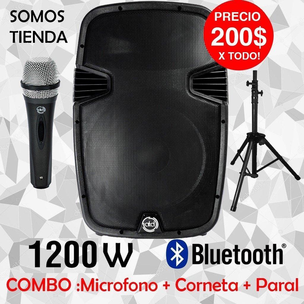 Brimont-tech on Twitter: OFERTA! Corneta 12 pulgadas 1200w bluetooth + mic+ paral, Somos tienda >