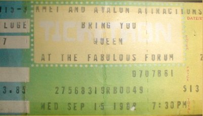 Some classic memorabilia from Queens Live performance at the Forum, Los Angeles, USA, OTD 1982 👑