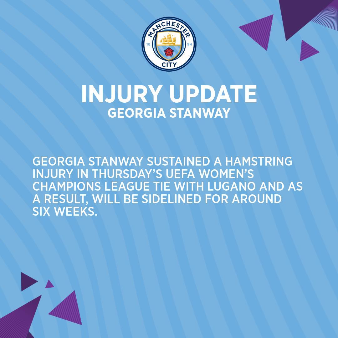 🚨 Injury update on @StanwayGeorgia... Speedy recovery 💙 🔵 #mancity
