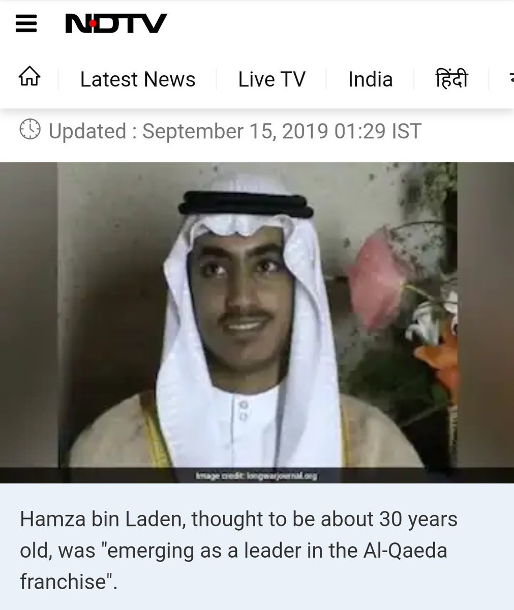 "✅Hamza bin Laden was ""Emerging Leader""✅Al-Qaeda is a ""Franchise""✅ISIS terrorists are ""Activists""✅Hizbul terrorists are ""Workers""✅Terrorist Burhan Wani was poor son of school headmasterWhy NDTV has such a soft corner for cold blooded terrorists? 🤔"