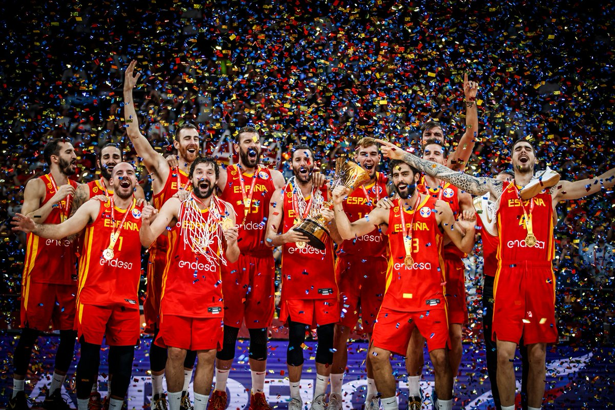 .@baloncestoesp 🇪🇸 reclaim the #FIBAWC throne. Full Final Highlights 📽⤵️. #ARGESP