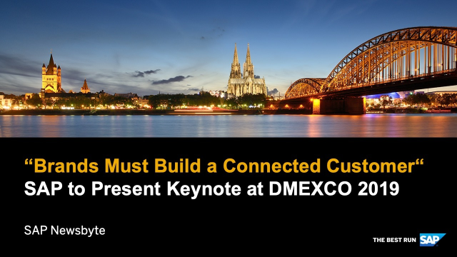 """SAP will take a leading role in discussing the issue of """"trust and the customer"""" at #DMEXCO19. Read more on @SAPNews: http://bit.ly/2AmXE6S"""