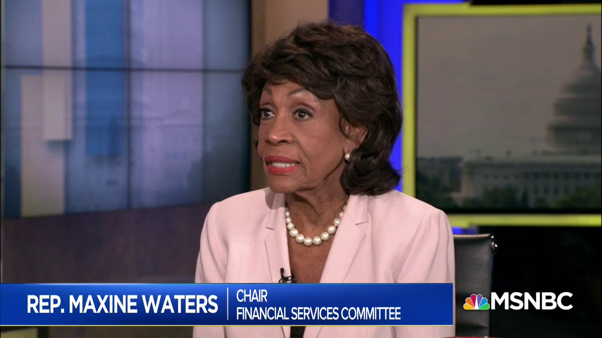 .@RepMaxineWaters: All six committees that are investigating are going to come up with the reasons why they think #Trump should be impeached, or not impeached... We've subpoenaed many of his operations. #AMJoy https://t.co/GHITfHdOX9
