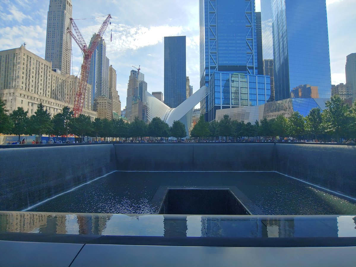 Hard to believe I've never been down to the world trade center memorial. Pretty amazing. #911Memorial