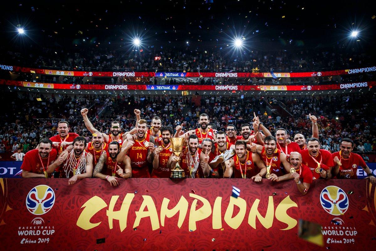 The #FIBAWC 2019 Champions - @BaloncestoESP 🇪🇸.  #EspañaGotGame