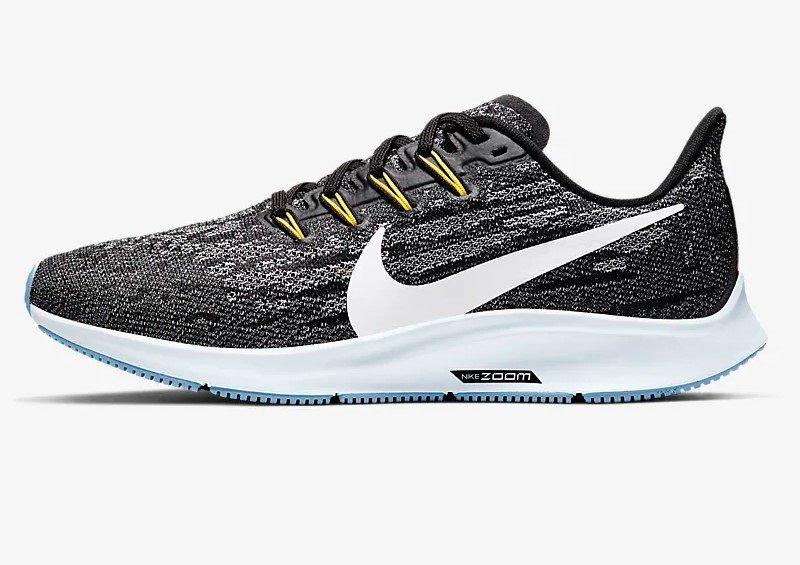 100% quality innovative design promo codes Nike Air Zoom Pegasus 36 Noir/Moitié Bleu/Bleu clair/Blanc ...