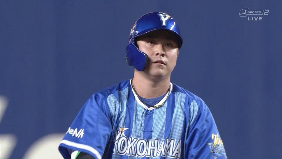 ⚾️中日×DeNA 23回戦 ナゴヤドーム佐野恵太 2死2塁のチャンス‼️センターオーバータイムリー二塁打でさらに追加点🎊今日の試合3安打2打点の活躍✊(*^◯^*)(2019.9.15) #baystars