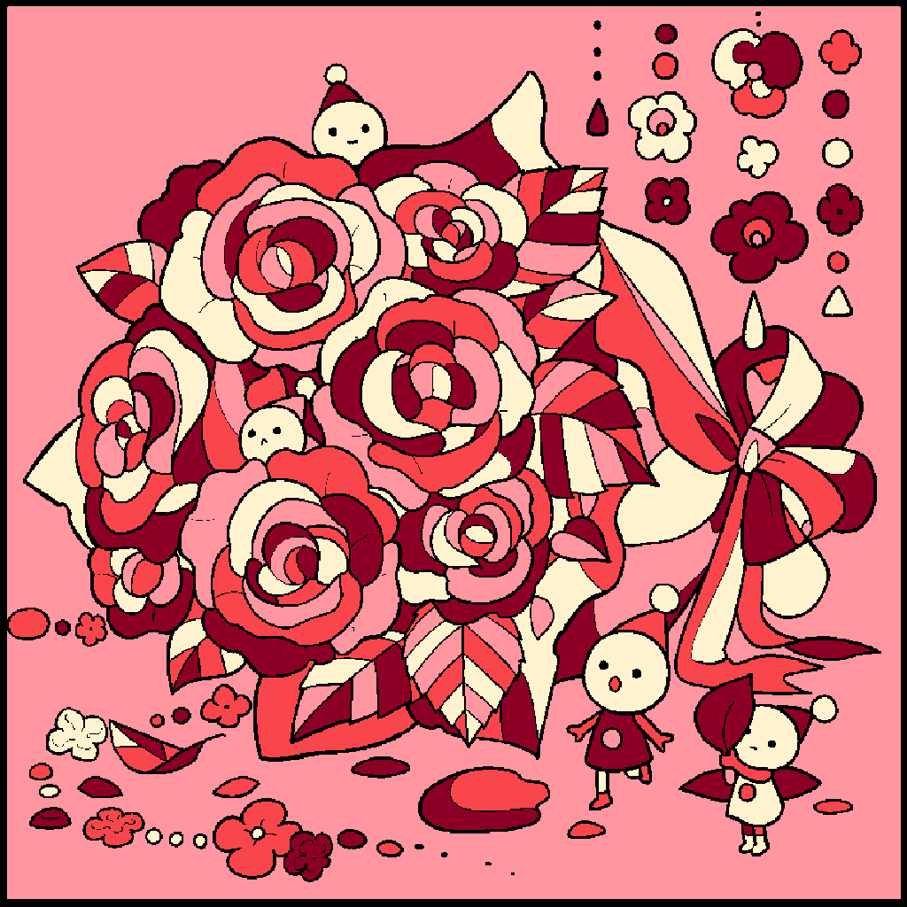 No.166 「バラ」#塗り絵パズル