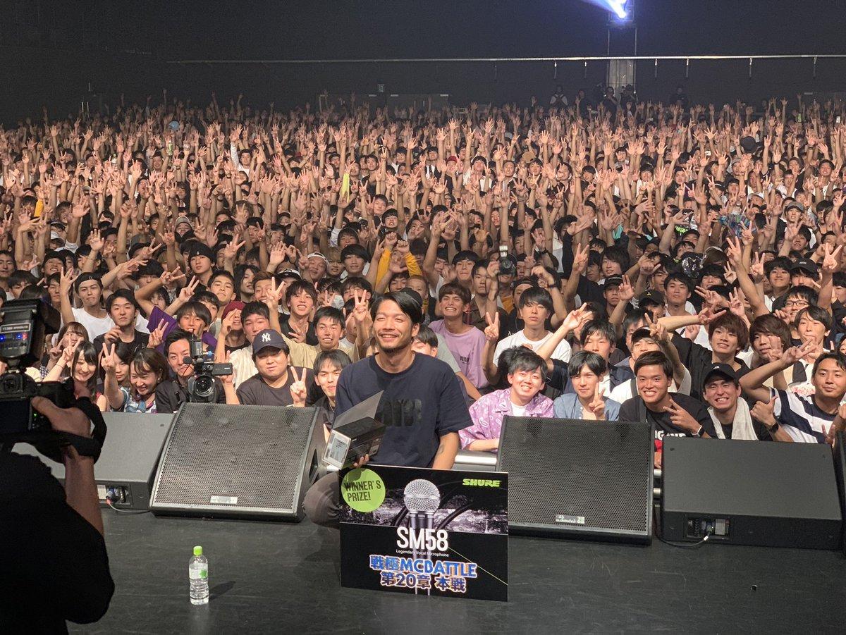 戦極MCBATTLE 第20章優勝はSAM!!