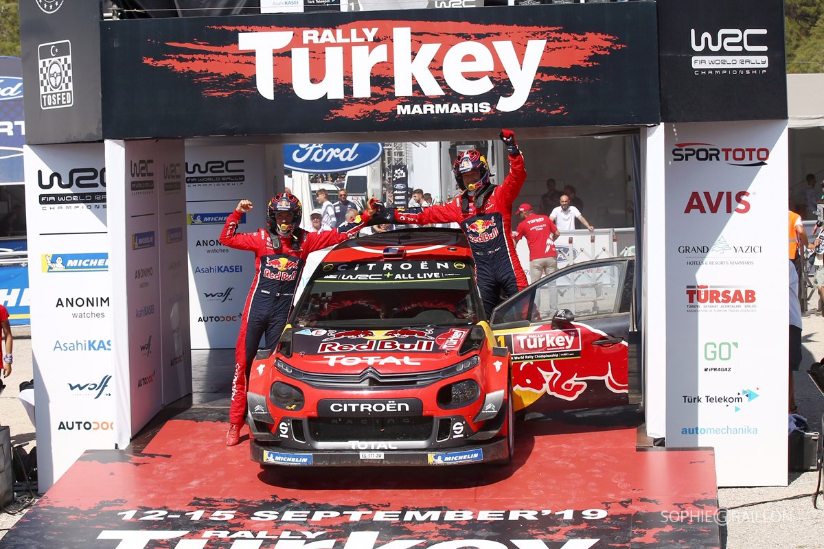 """That was really needed! It was the only chance to try and get back in the championship. We knew that anything could happen. #RallyTurkey is super rough, some places are a bit of a lottery, but the back luck we had in Germany was behind us and we could secure a good result!"" <br>http://pic.twitter.com/GW7ULv3dzZ"
