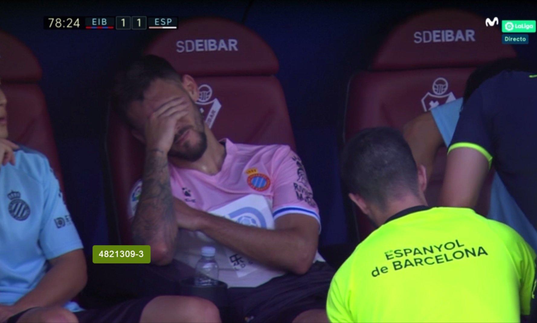 Ferreyra acabó llorando en el banquillo de Ipurua tras marcar ante el Eibar.