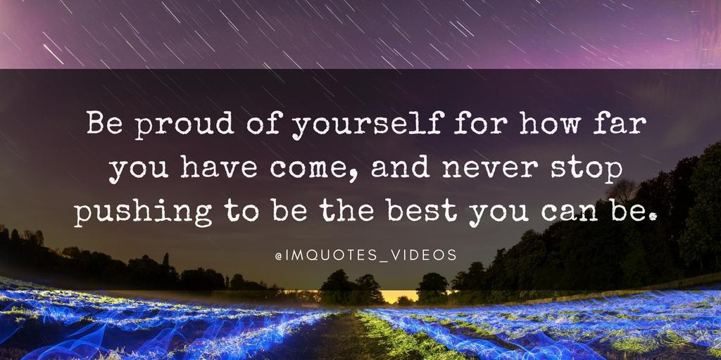 RT @IMQuotes_Videos: Always give yourself credit for the progress you have made thus far.   #SundayMorning https://t.co/T8x7vdPfxV