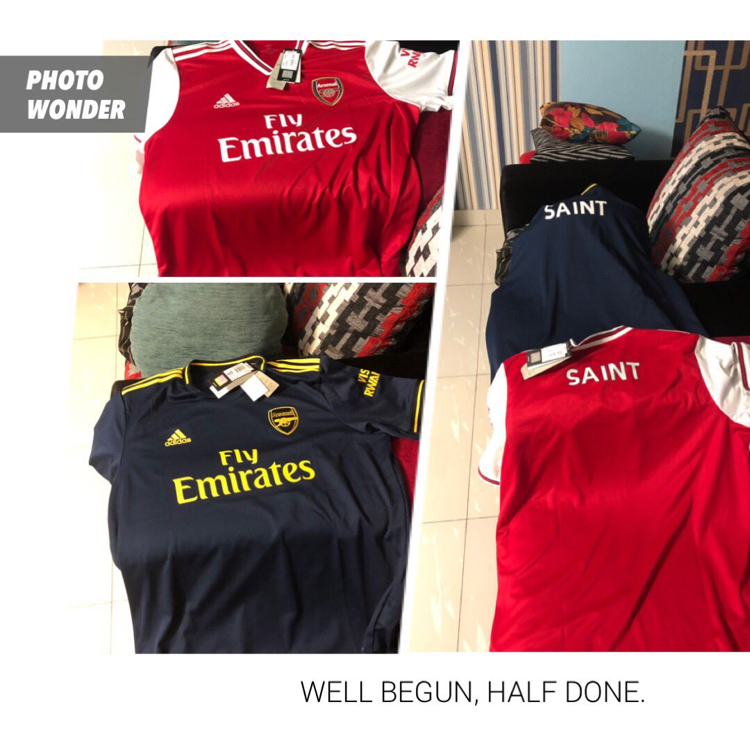It's Match Day And My Jerseys Arrived Safely From The Arsenal Store. #AFC #UsefTinkAm pic.twitter.com/V0IIld8be8