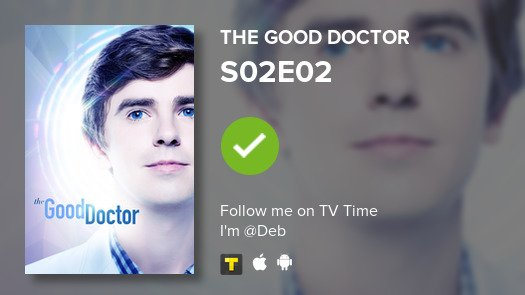 I've just watched episode S02E02 of The Good Doctor! #tvtime  https:// tvtime.com/r/1aptp    <br>http://pic.twitter.com/xAiLVQoNJW