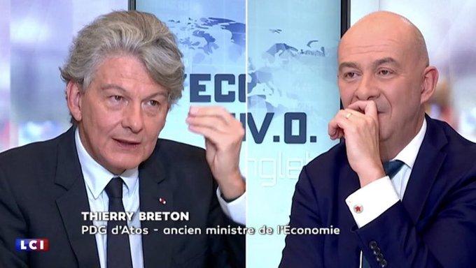 .@ThierryBreton est l'invité aujourd'hui à 17h de François Lenglet sur @LCI pour décrypt...