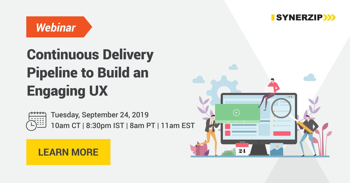 Learn how #DevOps can be leveraged to build an engaging #UX! Register for our interactive #webinar on Sept 24th -  http:// bit.ly/2ZDLapV    <br>http://pic.twitter.com/HO4z0yIXXZ
