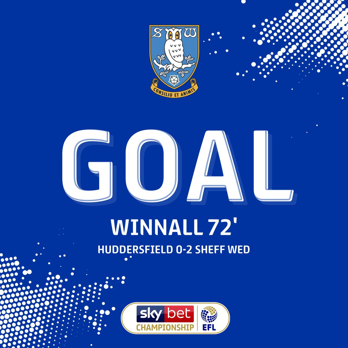 GOAL! Double delight for @swfc as Sam Winnall puts the visitors 2-0 up against @htafc... #EFL | #SkyBetChampionship