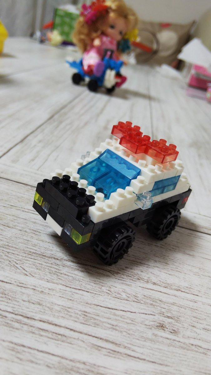 test ツイッターメディア - セリアで買ったこのナノブロックのパトカー、デザインかわいいしサイズ感もちょうどいい。良くできてる!100円でこれは良い!#セリア https://t.co/QeU6SJS3gg
