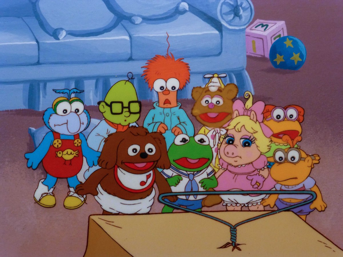"""""""Jim Henson's Muppet Babies"""" debuted on tv today in 1984. The animated series ran for 8 seasons and aired a total of 107 episodes. #80s #80stv #80scartoons<br>http://pic.twitter.com/ugaKYA72vu"""