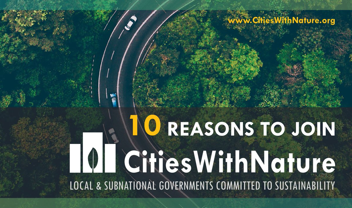 RT @CitiesWNature #Nature in cities has been proven to offer a myriad of benefits to cities & the people who live in & around them.  There are many reasons for #cities to join #CitiesWithNature 🏙️🌳   We'll be counting down 10 reasons why your city should #JoinTheJourney!  @ICLEI @nature_org @IUCN