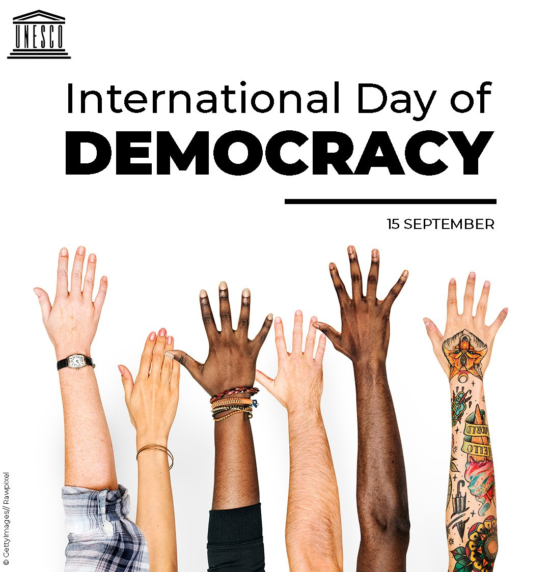Stand for Peace.  Stand for Freedom.  Stand for #Democracy!  15 September is #DemocracyDay!    https:// on.unesco.org/2MreuVW     <br>http://pic.twitter.com/K02vVtZj12