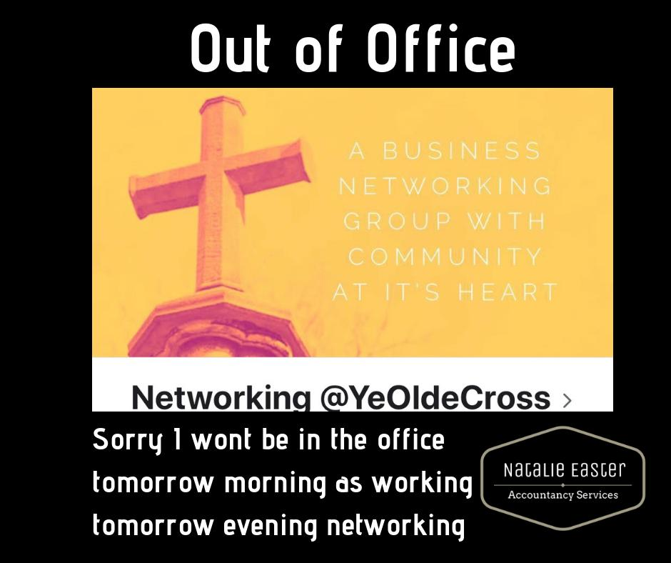 Sorry I won't be in the office tomorrow morning as I am working tomorrrow evening networking. If any local business are interested drop me a message I send you details #networking #supportlocalbusinesses #accountancy #accountant #homelifebalance #ryton #newburn #supportpic.twitter.com/2VfmM21ZB7