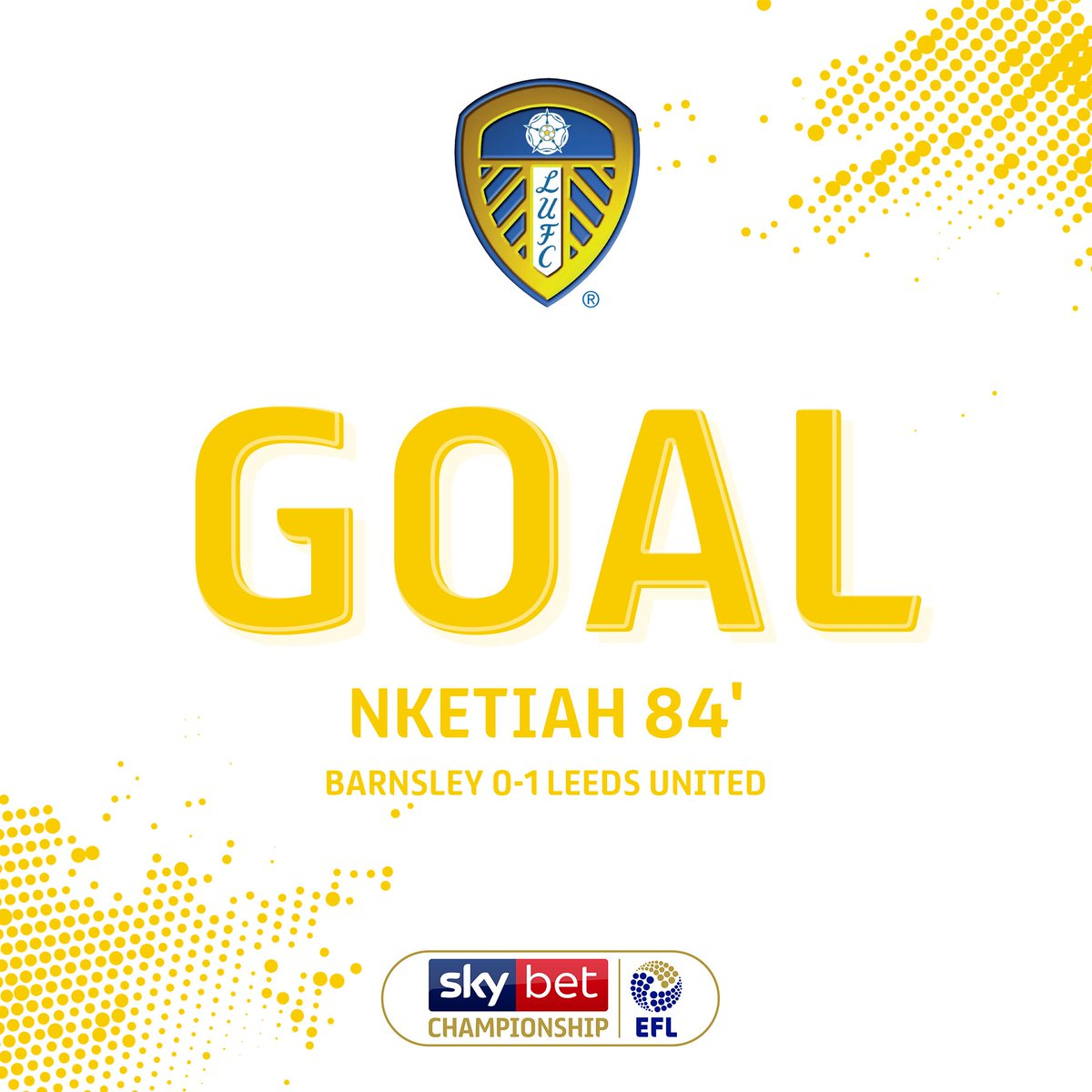 GOAL! It has been coming, Eddie Nketiah fires home from a Costa free-kick... #EFL | #SkyBetChampionship