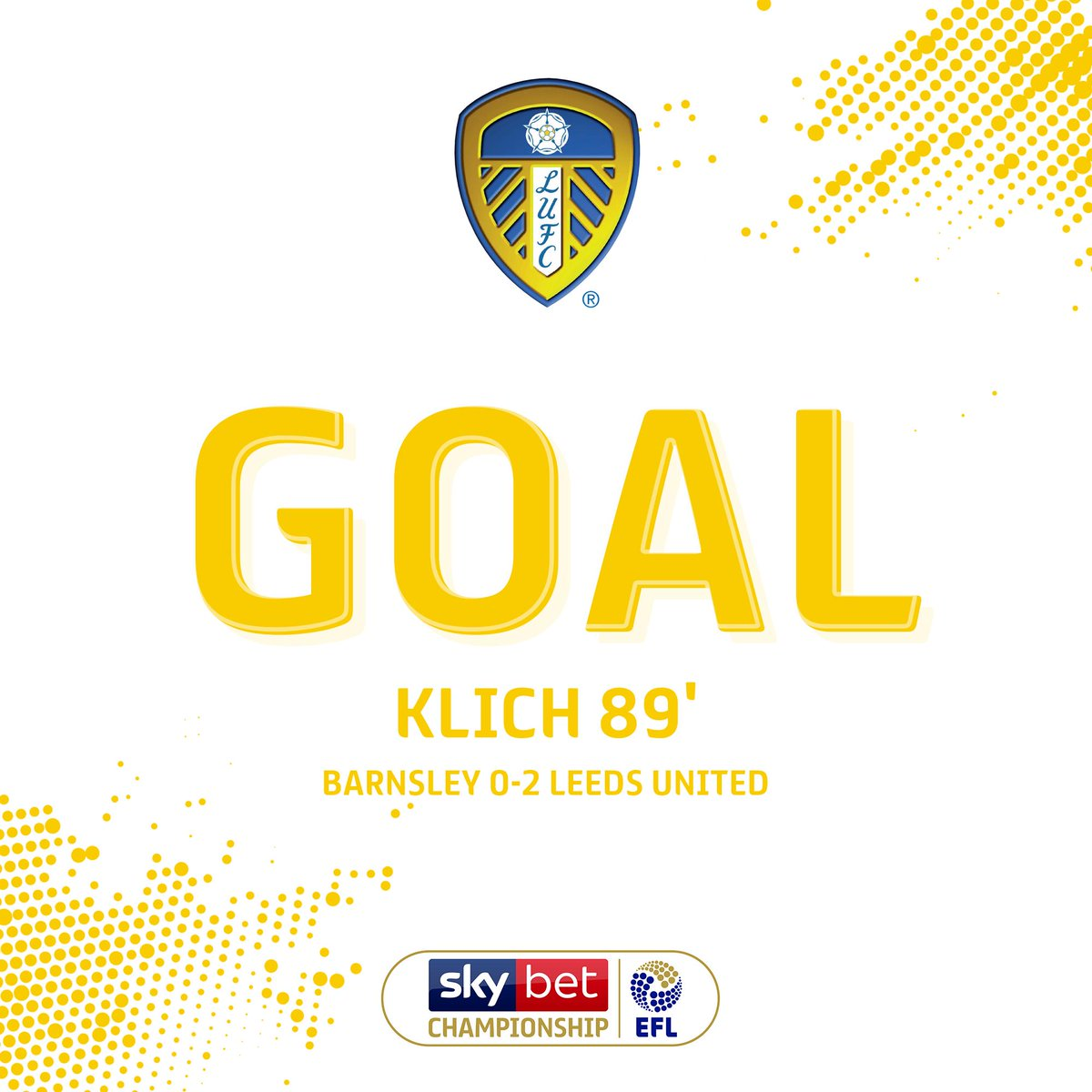 GOAL! Mateusz Klich cooly rolls the ball home from the penalty spot to double @LUFCs lead. #EFL | #SkyBetChampionship