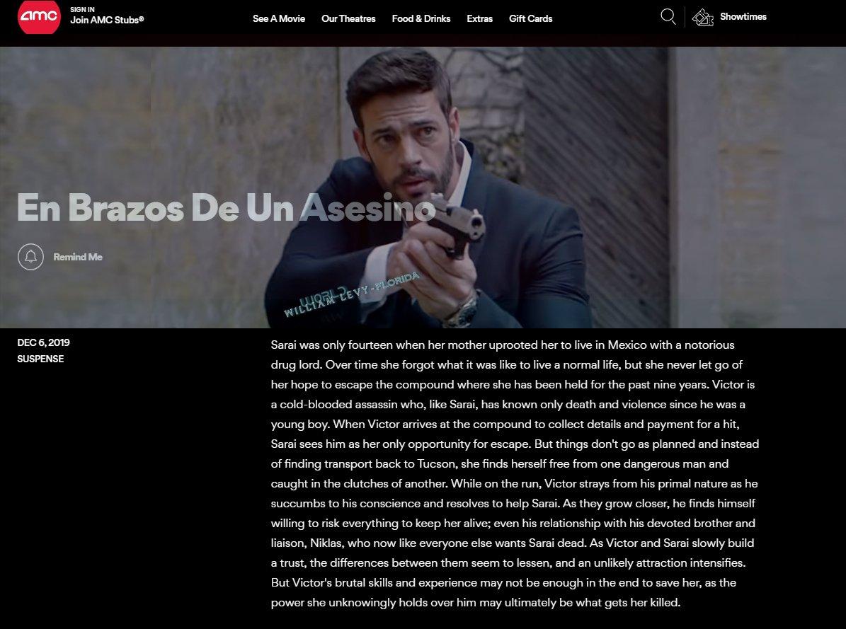 RT @WLW_Florida: #AMC upcoming movies alert  @willylevy29 #EnBrazosDeUnAsesino #December6 https://t.co/cqevTQzjtc