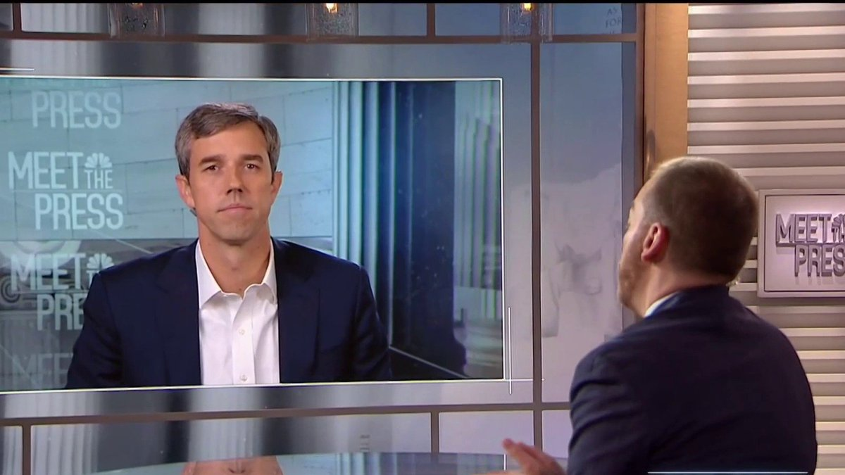 """WATCH: Presidential candidate Beto O'Rourke says that the reaction to his promise to take away AR-15's shows how """"screwed up the priorities in Washington D.C. are"""" #MTP #IfItsSunday  @BetoORourke: """"I refuse to even acknowledge the politics or the polling, or the fear or the NRA."""" https://t.co/snaIRMQABK"""