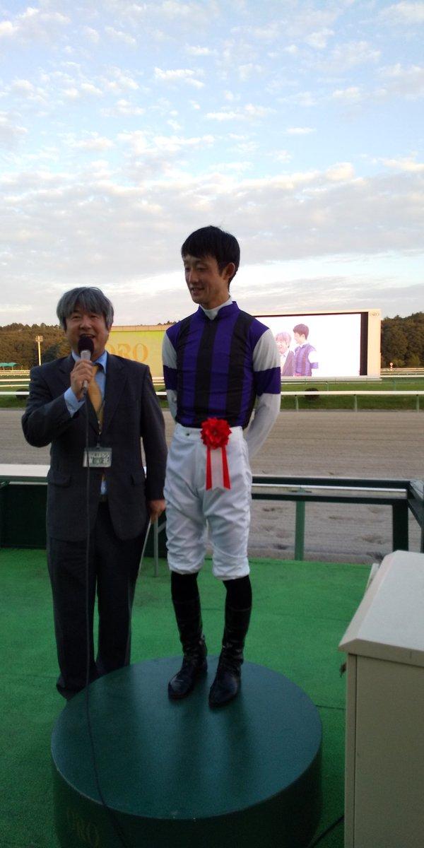 今日の岩手競馬メインレース🏇ジュニアグランプリ‼️菅原辰徳騎手騎乗のフジノロケット号優勝です😃辰徳騎手ならびに関係者のみなさんおめでとうございます⤴️⤴️