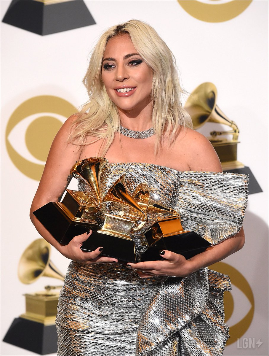 With 9 Grammys and an Academy Award, @ladygaga is halfway towards EGOT status.<br>http://pic.twitter.com/A3kE46zeyT