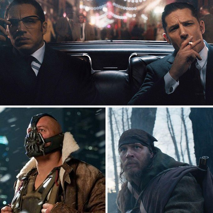 Happy 42nd Birthday to Mr Tom Hardy  The most versatile actor out there today?