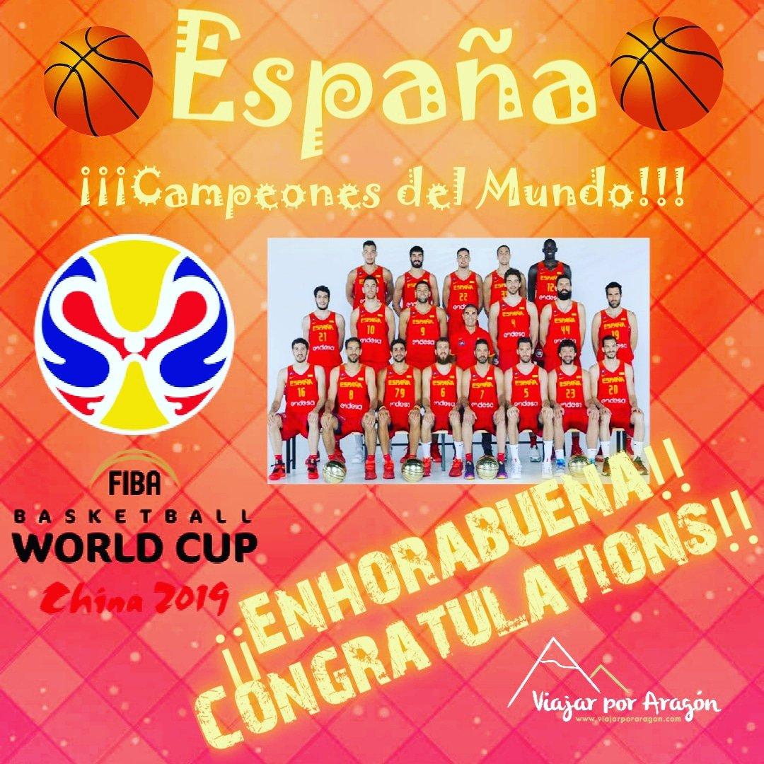 ¡GRANDES, GRANDES, GRANDES!¡Enhorabuena campeones!España, Campeones del Mundo 2019World Champion 2019#Basketball #fiba #worldcup2019 #worldcup19 #spain #espana #campeones