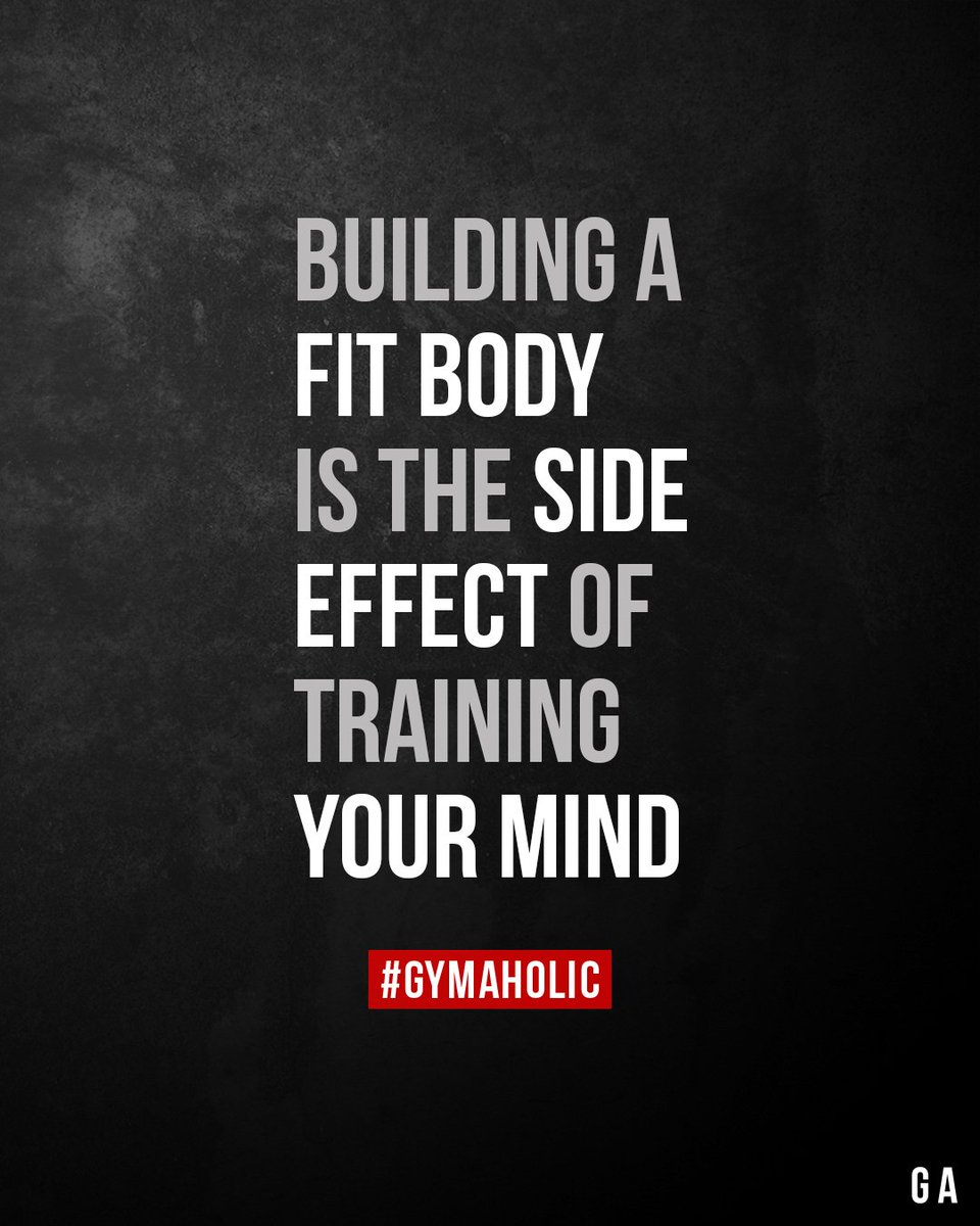 Building a fit body is the side effect of training your mind.  Gymaholic App:  https://www. gymaholic.co       #fitness #motivation #workout<br>http://pic.twitter.com/6bbS0kP7za
