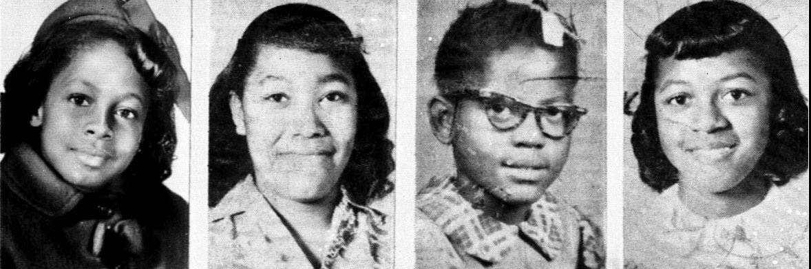 OTD 1963, 4 little Black girls are killed after a dozen sticks of dynamic exploded inside the 16th Street Baptist Church in #Birmingham Alabama.  This tragic bombing was carried out by racist Klansmen. Today, white supremacy remains a threat and houses of worship are under attack https://t.co/AnXVgZvToy