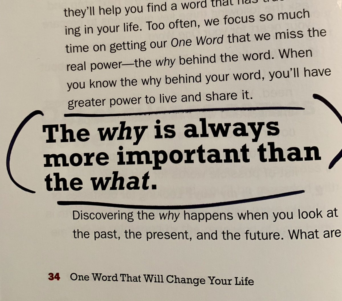 When you know your why behind your word, you'll have greater power to live and share it.