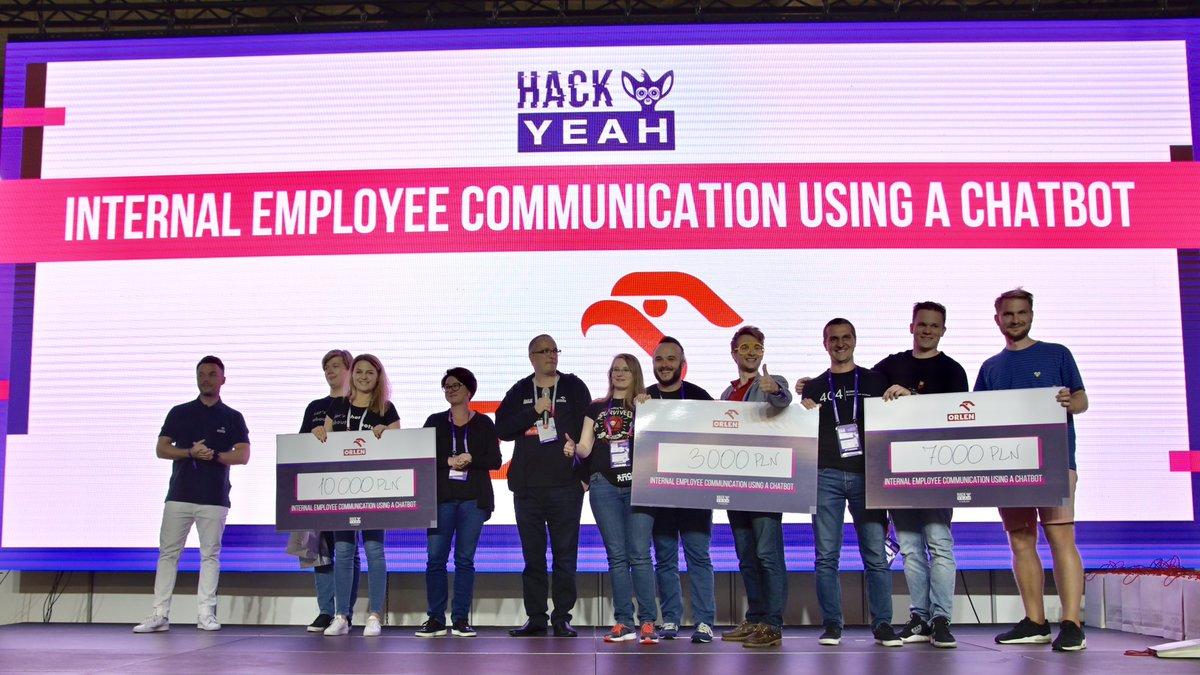 Znamy zwycięzców @Hackyeah! Jury doceniło rozwiązania zaproponowane przez dziewięć drużyn! Czy ich pomysły staną się częścią technologii stosowanych w #ORLEN? Dowiemy się wkrótce!