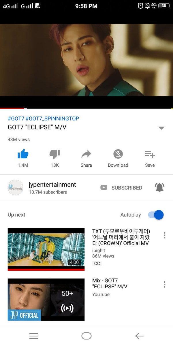 Hello ahgases please stream GOT7 ECLIPSE MV  for more views , thank you    https:// m.youtube.com/watch?v=6tl-MG 38-0E   … <br>http://pic.twitter.com/PzOhM4uhrc