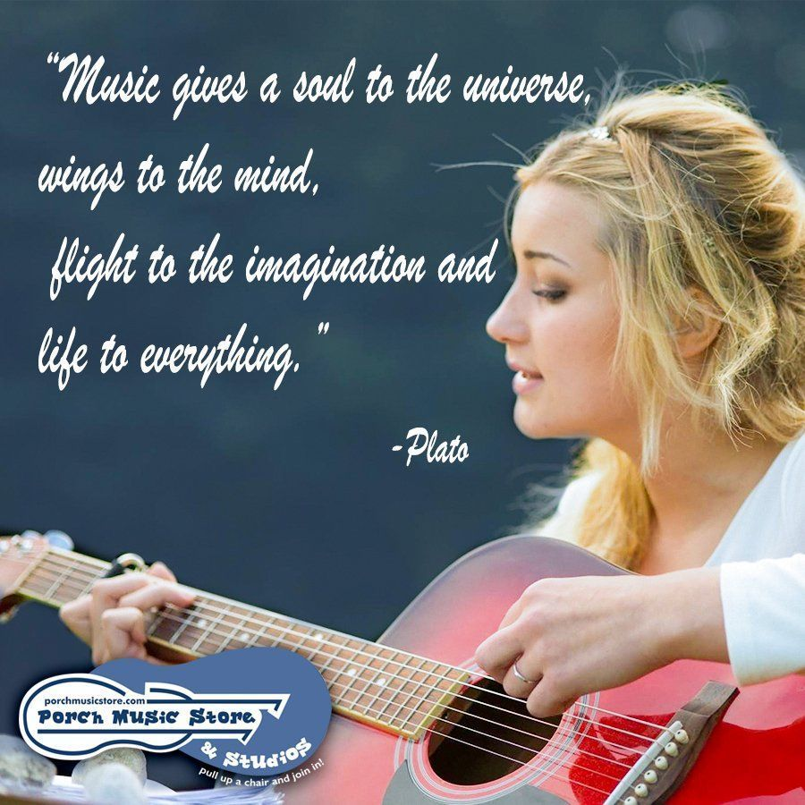 """Music gives a soul to the universe, wings to the wind, flight to the imagination and life to everything."" -Plato  http:// porchmusicstore.com      #music #musicstore #franklinpa #musicinspiration #musiceducation #musiclessons #musicinstruments<br>http://pic.twitter.com/faAc8s9kcy"