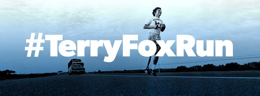 It's #TerryFoxRun Day! Shout out to everyone continuing his #MarathonofHope today to support cancer research. Take a moment to honour the legacy of this Canadian hero. @TerryFoxCanada #courage #inspiration<br>http://pic.twitter.com/JzCTVBhX5i