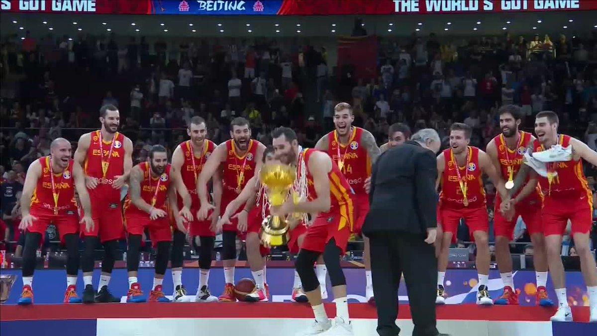 CAMPEONES DEL MUNDO 🇪🇸🏆. #FIBAWC #EspañaGotGame  @BaloncestoESP