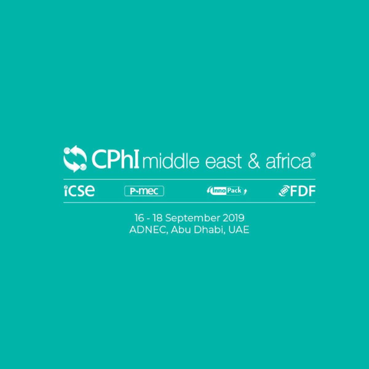 "The ""CPhI Exhibition & Conference Middle East and Africa 2019"" (@CPhIWW) kicks-off tomorrow at #ADNEC and runs till 18 Sept, the world's largest  pharma event at the local and international levels will gather doctors and experts from the pharmaceutical industries around the world <br>http://pic.twitter.com/QUCF6TZGzb"