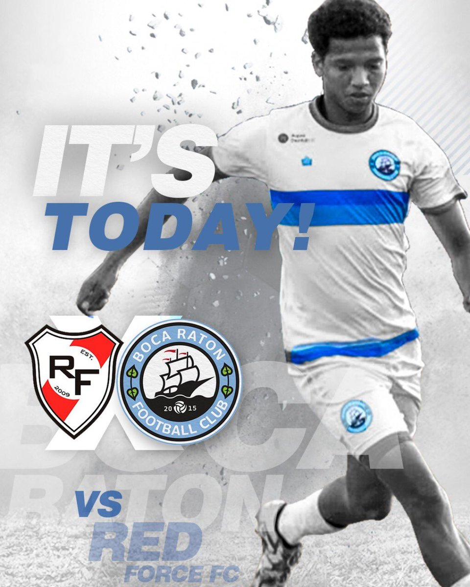 It's today!  Don't miss, kickoff is at 6:30 from #KendallSoccerPark!  #BocaNation #BocaRatonFC #LocalSoccerpic.twitter.com/DCpbo6x83R