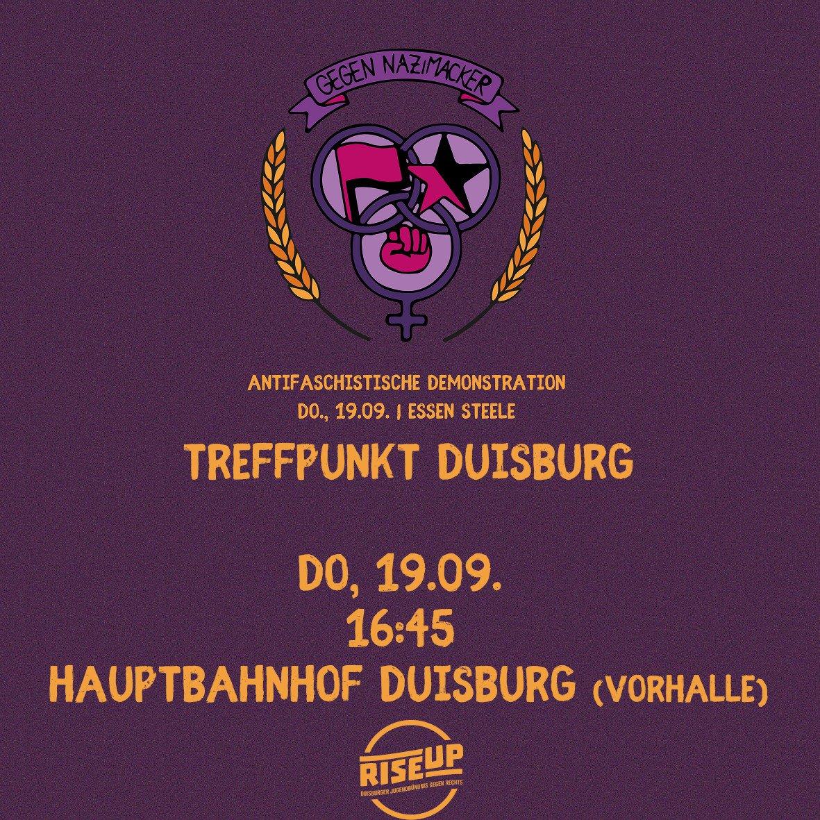 RT @riseupduisburg: #e1909 #essen1909 #GegenNazimacker https://t.co/bKjHl8BWSA